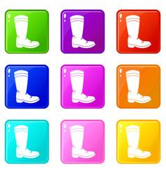 cowboy boot set 9 vector image vector image