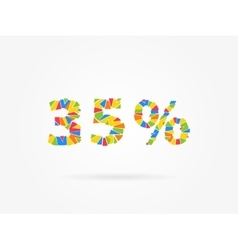 Discount 35 percent colorful vector image