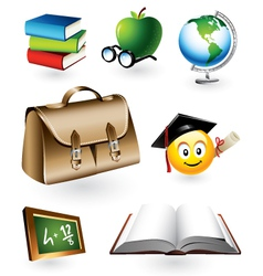 educational elements vector image