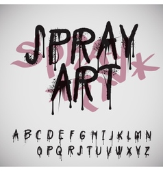 Graffiti splash alphabet vector image vector image