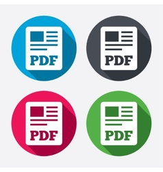 PDF file document icon Download pdf button vector image