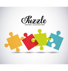 puzzle assembling design vector image vector image