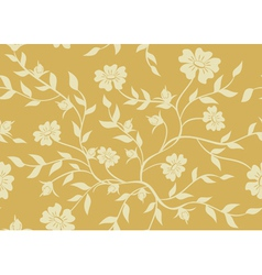 seamless beige floral texture vector image vector image