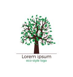 tree logo concept vector image vector image