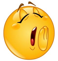 yawn female emoticon vector image vector image