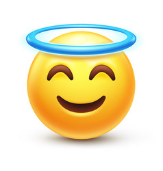 Angel emoji vector