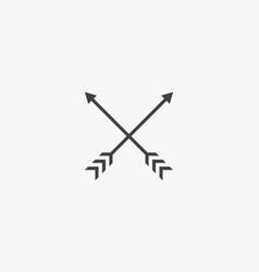 Archery on white background creative icon vector