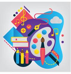 back to school concept art vector image