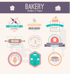 Bakery logos vector