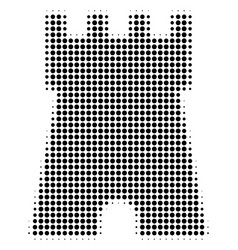 Black dotted bulwark tower icon vector