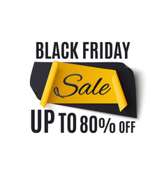 black friday sale banner isolated on white vector image vector image