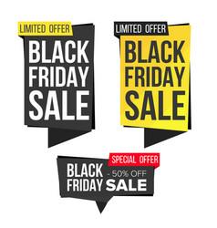 black friday sale banner set discount vector image