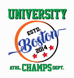 Boston university champs vector