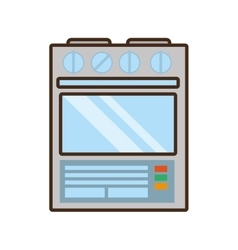 cartoon gas stove appliance kitchen home vector image