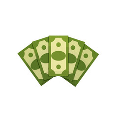 cartoon of money fan five dollar vector image