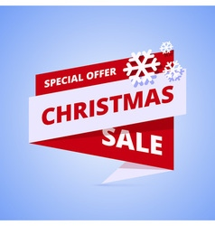 Christmas sale geometric banner vector image