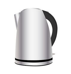Chrome teakettle vector image