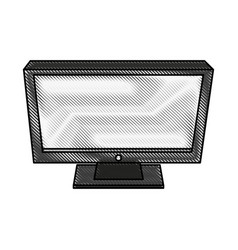 Color blurred stripe top view desk computer vector