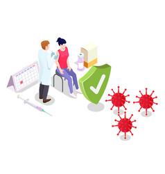 covid19 coronavirus vaccination concept vector image