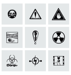 Danger icon set vector image