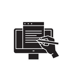 digital writing black concept icon digital vector image