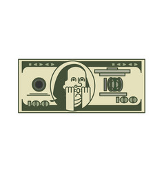 Dollar omg portrait franklin usa money american vector