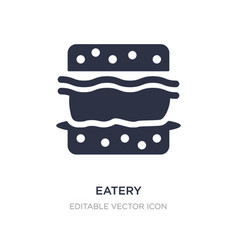 Eatery icon on white background simple element vector