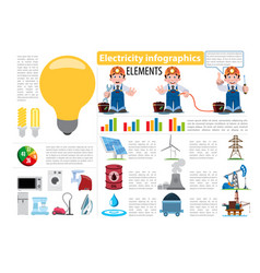 electricity infographics elements electricity vector image