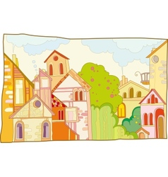 fantastic lodge street vector image
