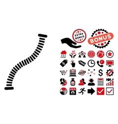 Flexible Pipe Flat Icon with Bonus vector