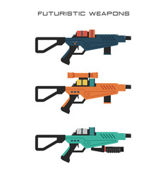 futuristic rifle vector image