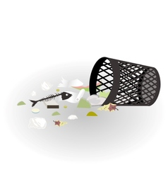 Garbage basket vector image