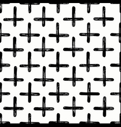 Geometric grunge cross pattern vector