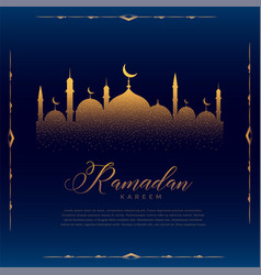 Glowing mosque design for islamic ramadan kareem vector