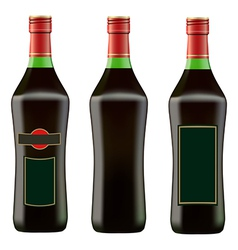 green bottle of red martini vector image