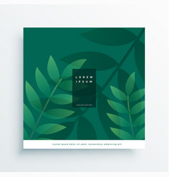 green nature leaves design vector image