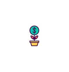 growth icon design marketing icon design vector image