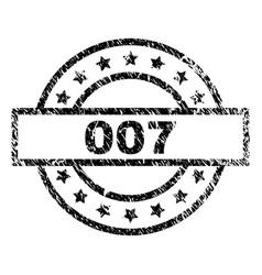 Grunge textured 007 stamp seal vector