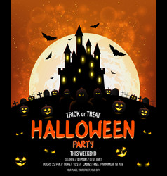 Halloween poster design vector