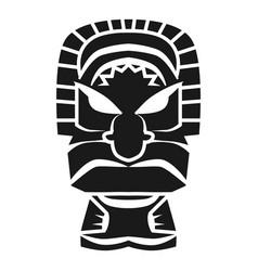 Hawaii mask idol icon simple style vector