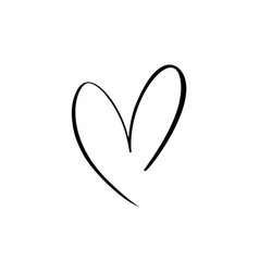 heart sign icon on white background vector image
