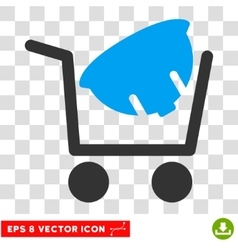 Helmet Shopping Eps Icon vector