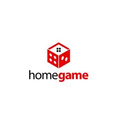 Home game logo design concept vector