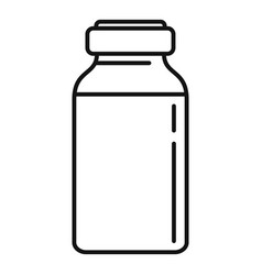 Insulin dose bottle icon outline style vector