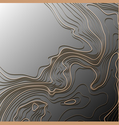 Map line topography abstract topographic map vector