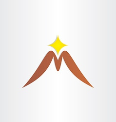 Mountain letter m symbol vector