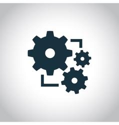 New gear simple icon vector