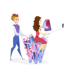 Online shopping website design element template vector