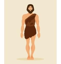 Primitive man neanderthal vector image