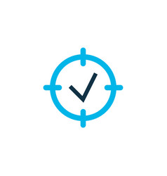 Project goals icon colored symbol premium quality vector
